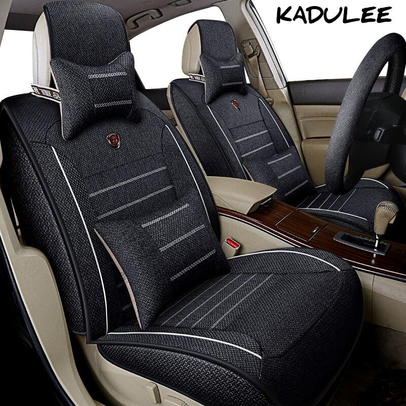 KADULEE housse de siège de voiture en lin pour ford focus 2 3 courrier fiesta figo s max f150 accessoires Auto protecteur de siège de voiture style de voiture