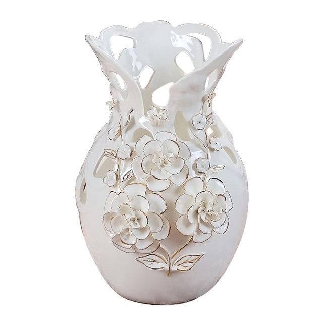 Us 198 0 Gold Rose Vase European Style Living Room Decorative Ceramic Vase Ornaments Wedding Housewarming Gift In Vases From Home Garden On