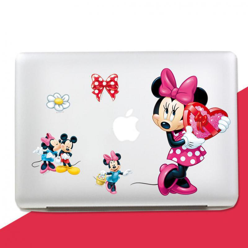 Girl love Mickey Minnie Mouse Art Vinyl diy Wall Stickers Home Kids Room Decor Wall Stic ...