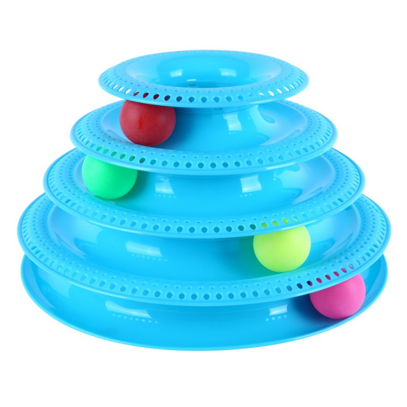 Crazy Ball Disk Interactive Cat Toy