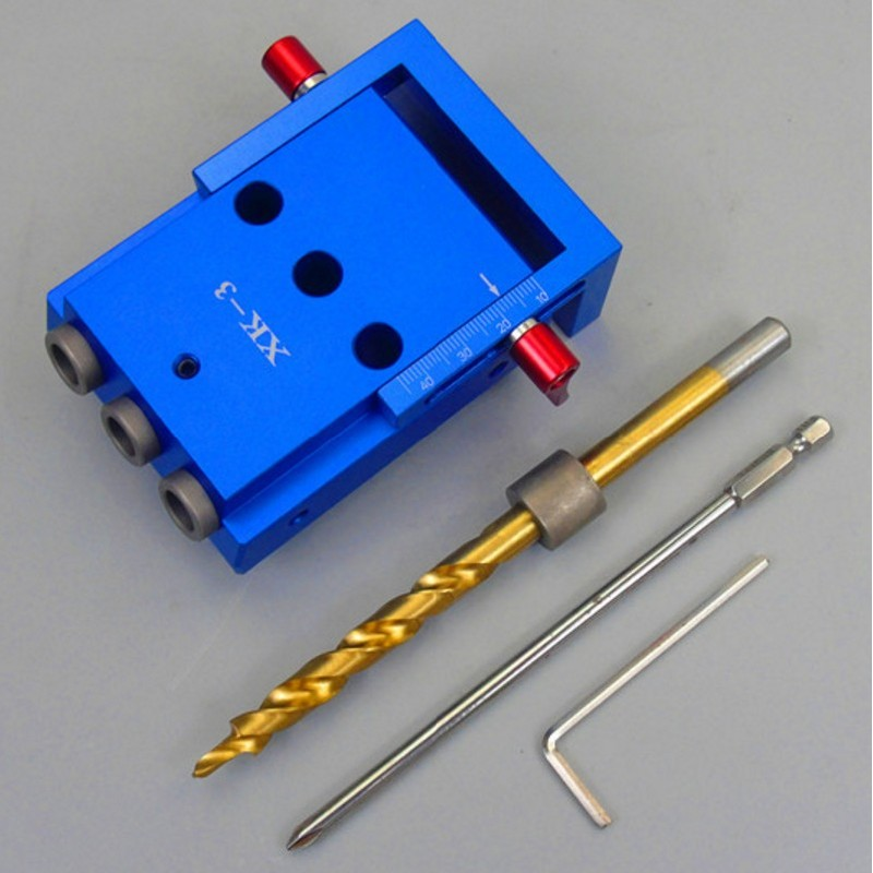 Woodworking Oblique Hole Locator Pocket Hole Jig Kit Set Hole Opener Locator Woodworking Drill Guide Woodworking DIY Tool