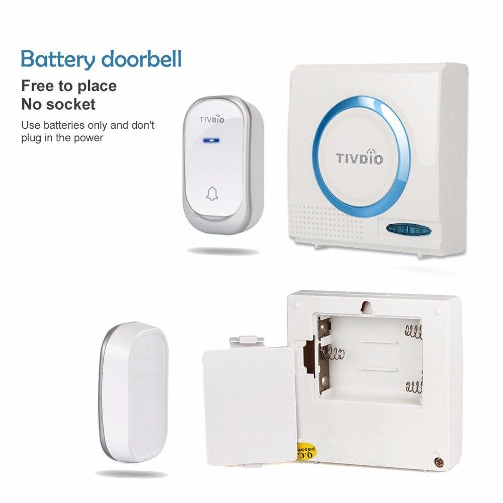 smart kit eslife wireless receivers chimes required doorbells doors push button no battery doorbell chime door shop