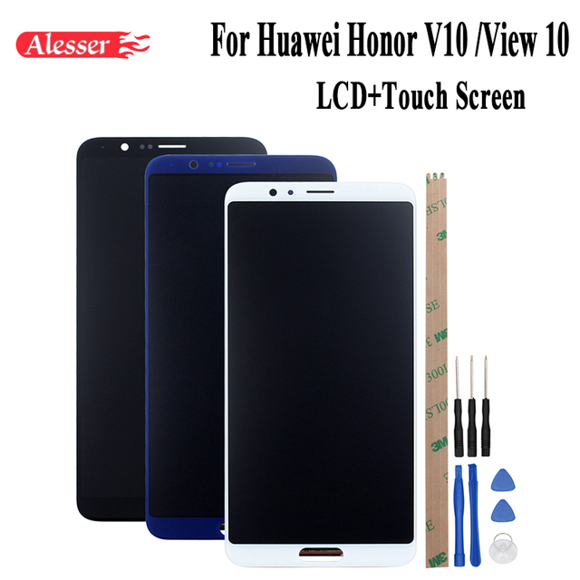 Alesser For Huawei honor v10 honor view 10 BKL AL00 AL30 L09 LCD Display+Touch Screen Repair Parts 5.99Phone Accessories+Tools