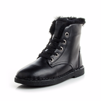 Autumn Winter Snowfield Short Boots Women Shoes Flat Heel Students With Velvet Thick Short Tube Full