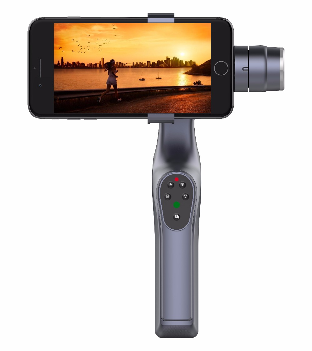 Brushless Handheld Phone New XJJJ JJ-1S 2-axis Stabilizer 330 Degree Smartphone Gimbal Holder Mount Built-in Bluetooth xjjj jj 2 3 axis brushless handheld gimbal stabilizer 360 degree shooting fitting smart phone