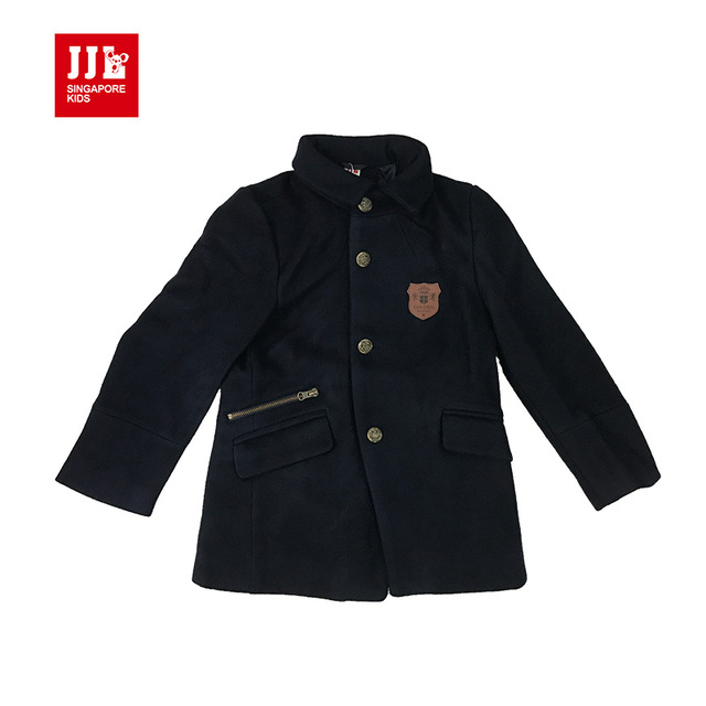 boys woolen coats wool coat for boys outwear children coats warm retail kids jackets lengthen girls clothing