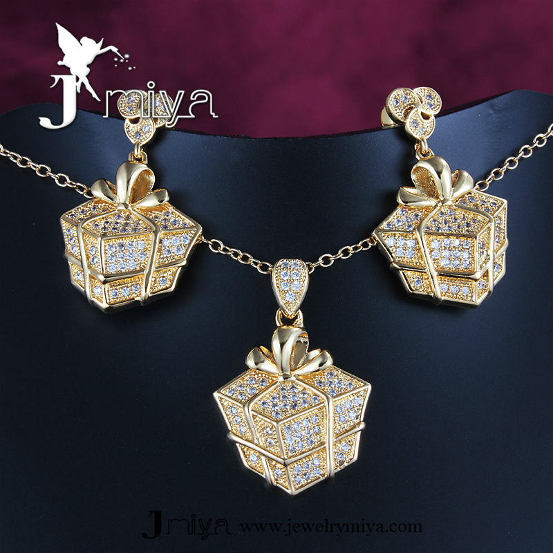 Sgs Pass 18k Gold Plated Saudi Arabia Jewelry Sets Jmiya18krgps575