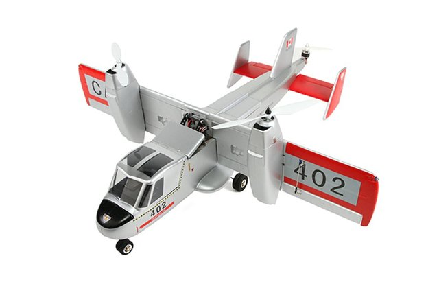 hot sale free shipping Canadair CL 84 Dynavert Tilt wing VTOL vertical take  off and landing rc model airplane aircraft plane PNP-in RC Airplanes from