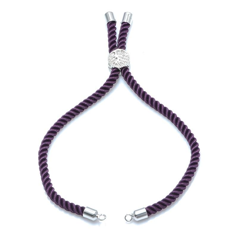 12 цветов Новые черные красные веревки плетеные веревки регулируемая цепь для шармы-соединители ювелирные изделия для создания браслетов ювелирных изделий - Цвет: purple