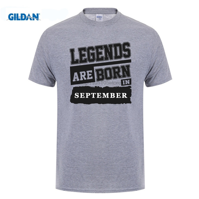 GILDAN Customize Tee Shirts Men Birthday Legends Are Born In September Crew Neck Hipster DIY Ideas