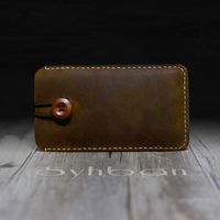 SYHBAN Brown And Black Leather Leather For Iphone 6 7 Wallet Belt Holster Leather Phone Holster