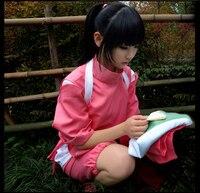 Super Hot Anime Movie Spirited Away Chihiro Cosplay Costumes Girls Cute Pink Kimono Japenese Style Ladies