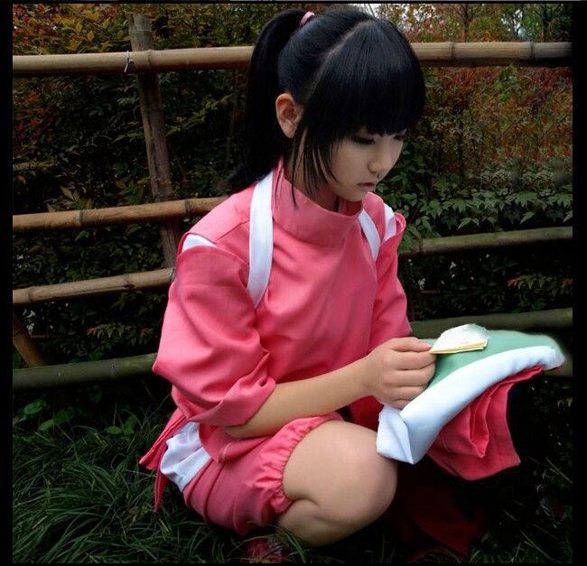 Super Hot Anime Movie Spirited Away Chihiro Cosplay Costumes Girls Cute Pink Kimono Japenese Style Ladies Hot Costumes for Sale