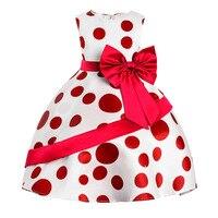 Girls Printed Flowers Dress Little Wrinkle Chrysanthemum Princess Dress 2017 New Style Party Dresses Children Girl