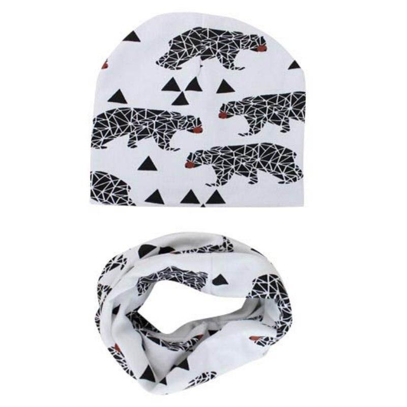 ∞EFINNY niños gorras bufandas Set Otoño Invierno sombrero hecho ...