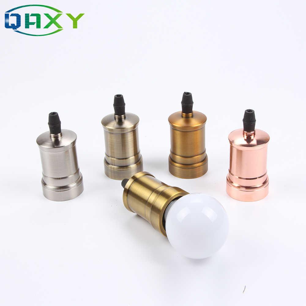 110V-240V E27 Classic Vintage Edison Lamp Holder Lamp Socket Bulb Base Silver/Copper/Rose Gold Light Socket For Table Lights