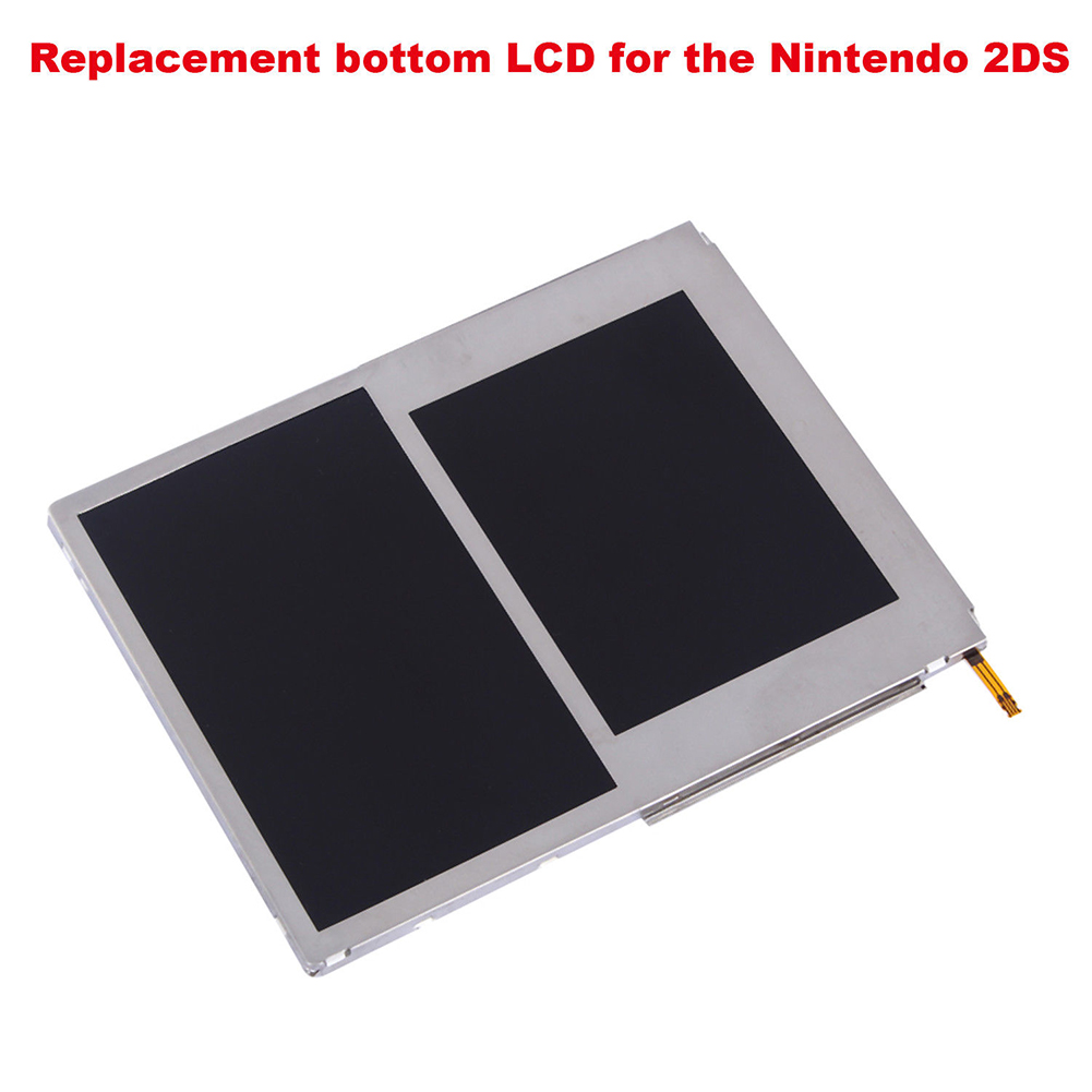 Replacement Part DIY Gift LCD Display Easy Install Practical Game Component Screen Protector Top And Bottom For Nintendo 2DSReplacement Part DIY Gift LCD Display Easy Install Practical Game Component Screen Protector Top And Bottom For Nintendo 2DS