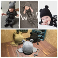 Bebê de malha de inverno chapéu orelha urso bonito boy girl crianças quente chapéu cap 3 cores para crianças de 3-24 meses chapéu do bebê do outono