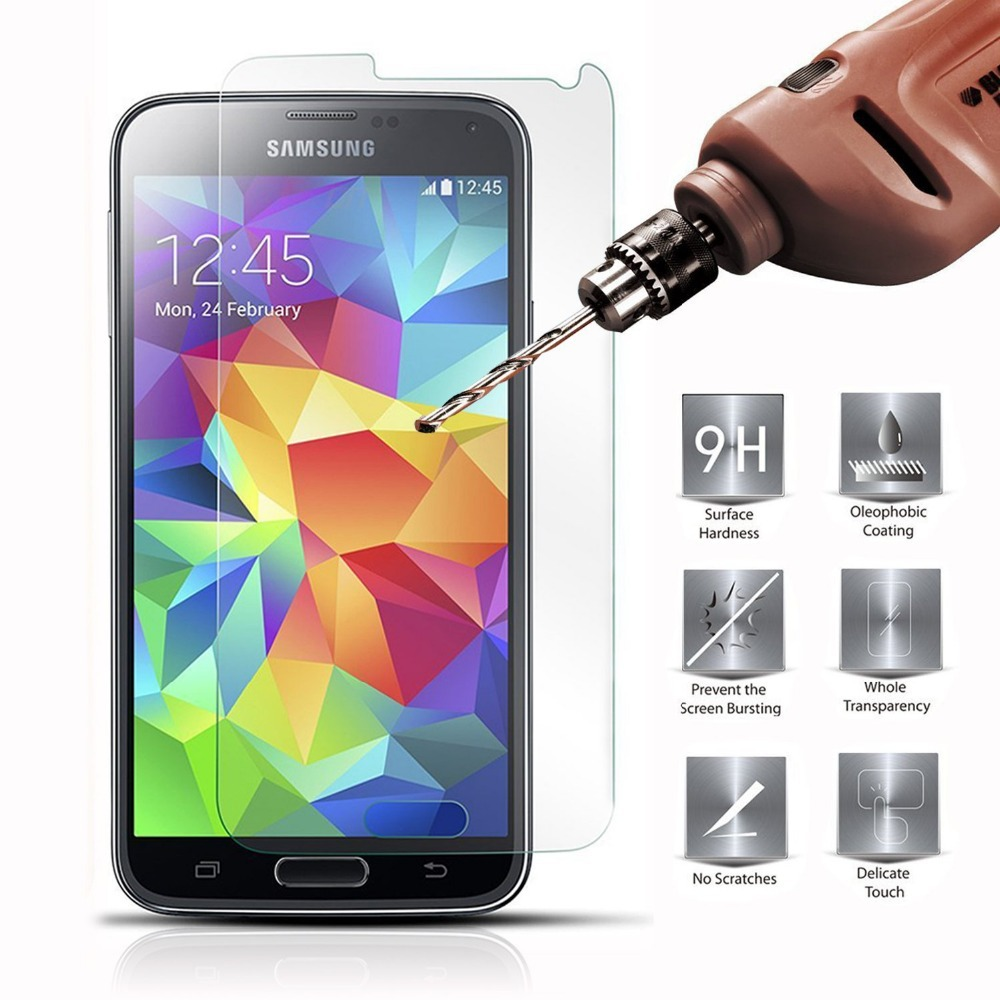 9H 0.26mm 2.5D Ultra Thin Real Premium Tempered Glass Screen Protector Film Case for Samsung Galaxy S3 S4 S5 S6 S5 A3 A5 A7 A8