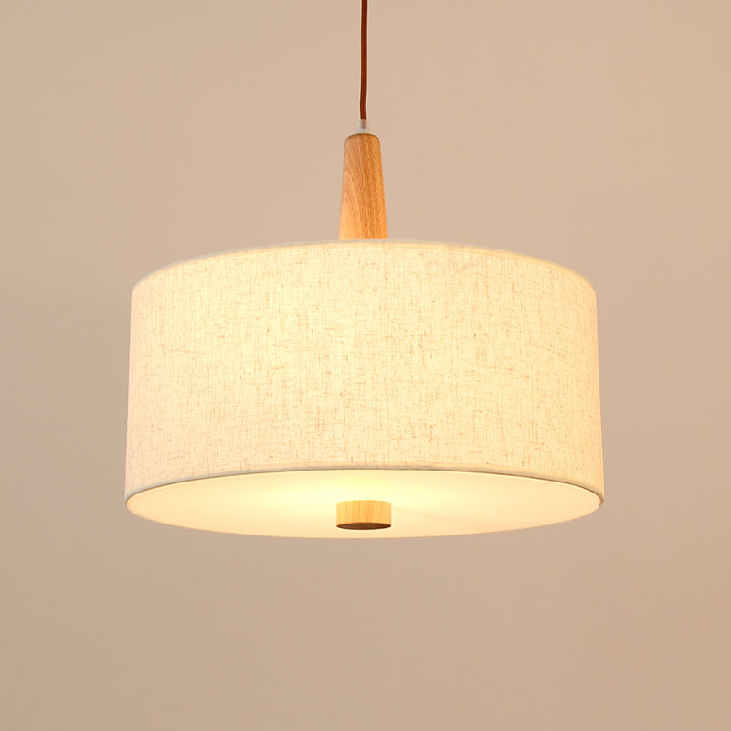 High-quality wooden pendant lights with linen shade Chinese/Japanese style suspension indoor E27 lamp wood color dining lightingHigh-quality wooden pendant lights with linen shade Chinese/Japanese style suspension indoor E27 lamp wood color dining lighting
