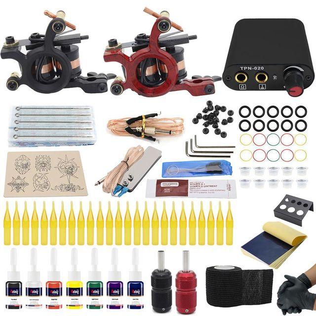 Besta tattoo coil machine set tattoo power grip tattoo ink kit Body Art Tools Tattoo Permanent Makeup kit