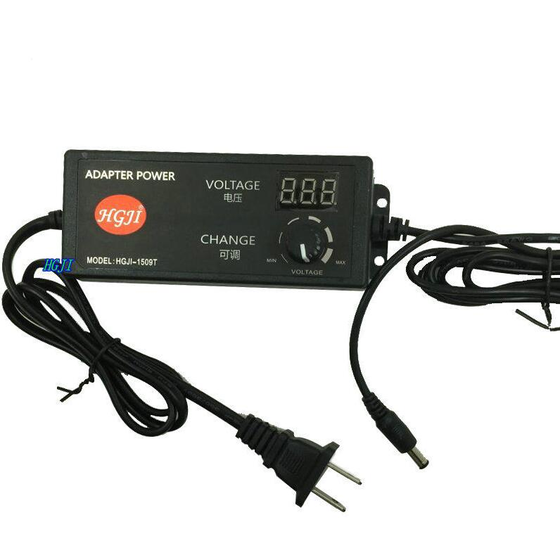 AC/DC Adjustable Power Adapter Supply 4-24V 2.5A 60W Speed Control Volt Display Plug in to 5.5*2.1mm Connector