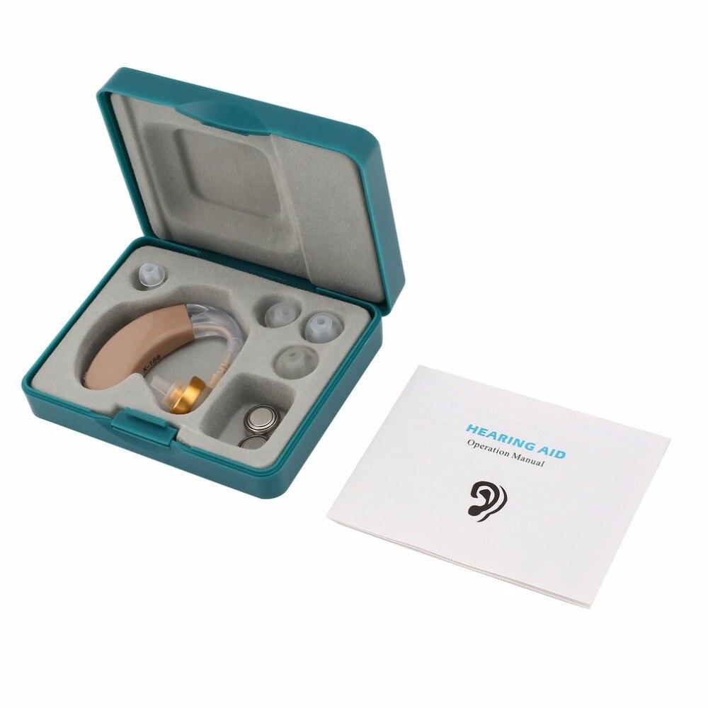 Kleine Hörgeräte Ton Stimme Verstärker Ohr Hörgeräte Kit Einstellbar Hinter Ear Sound Enhancer Ohr Pflege Für ältere menschen deaf