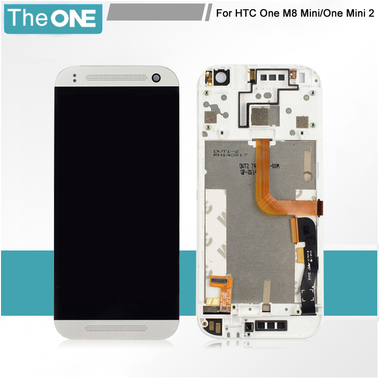 100% Test LCD Screen Display For HTC One M8 Mini One Mini 2 With Touch Screen Digitizer Assembly + Frame Free Shipping толщиномер etari et 111