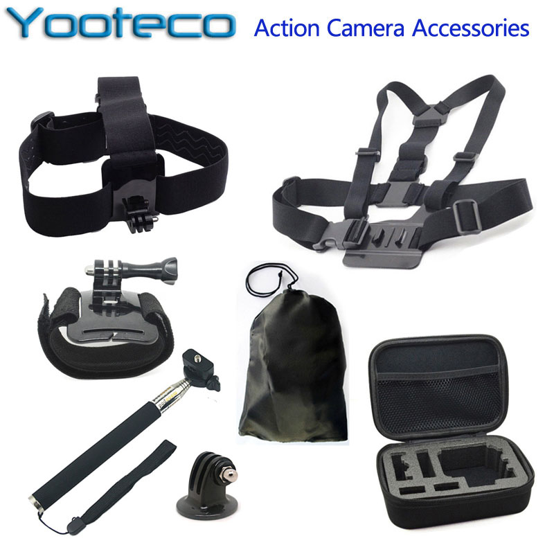 For GoPro Accessories Action Camera Bag Selfstick Tripod Mount Chest Head Strap for Go Pro Hero