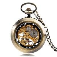 Classic Retro Elegant Hand Winding Mechanical Pocket Watch Pendant Luxury Cool Good Quality Men And Women