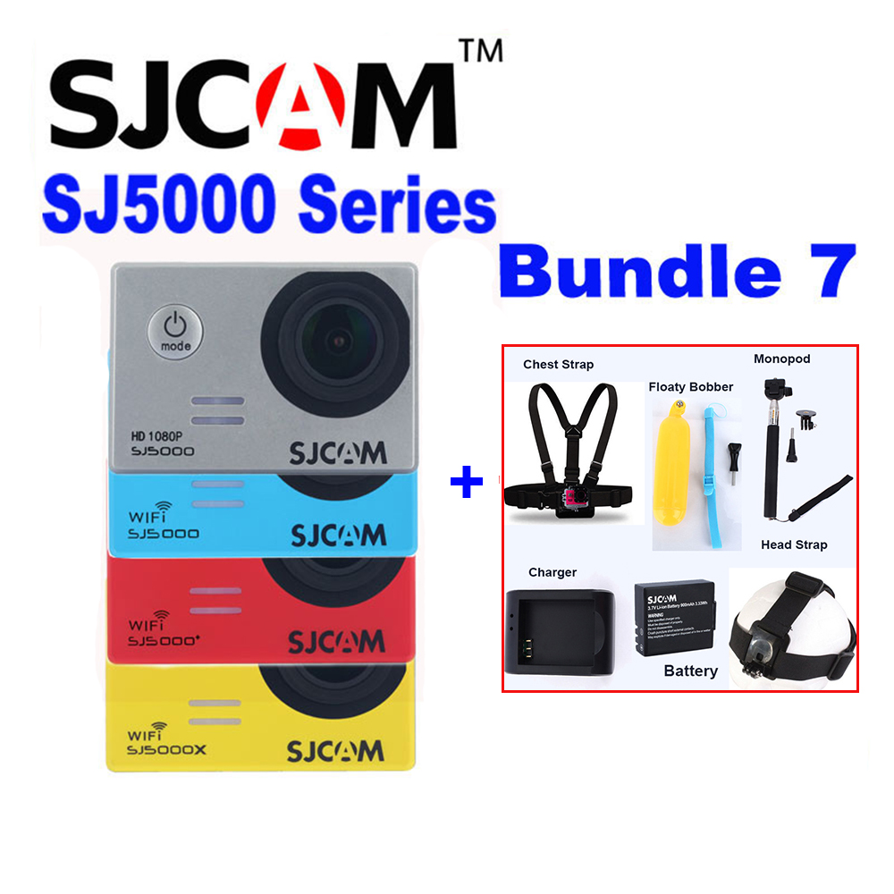 Original SJCAM SJ5000X SJ5000 Plus SJ5000 WIFI SJ5000 30M Waterproof Sports Action Camera Sj Cam DVR With Various Accessories экшн камера sjcam sj5000 wifi черный sj5000wifiblack