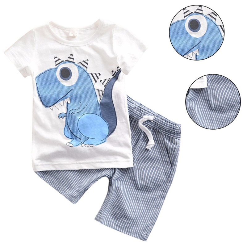 Kids Baby Boy Clothes Summer Newborn Clothes Set Cotton Clothing Suit Short Sleeve Shirts+Pants Infant Set newborn infant baby boy girl clothes hooded vest top short pants outfits set 2pcs suit summer baby boy clothes