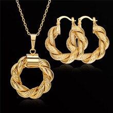 Marca Nuevo Collar de La Vendimia Collar Y Del Pendiente de La Joyería Para Las Mujeres Al Por Mayor de Accesorios Gótico Del Oro Dubai Sistemas de La Joyería
