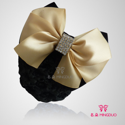 Jewelry-Set Wholesale Hotel Airlin Korean 10pc Headwear Snood Bank Ribbon-Bow Hair Occupation