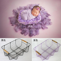 Newborn Baby Photography Props Accessories Cradle Shaped Studio Tools Infantile Baby Butterfly Cushion Pictures Prop