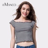 EManco 2017 New Women Sexy Short Paragraph Slim Body Exposed Umbilical Wood Ear Side Of The
