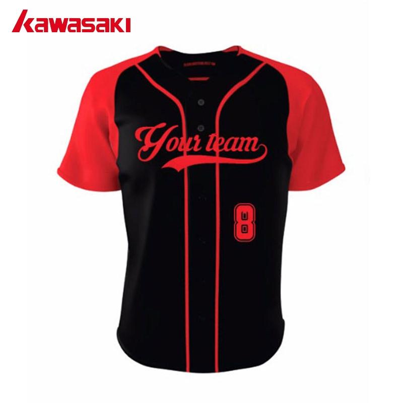 2017 new custom kawasaki unisex baseball jerseys shirts