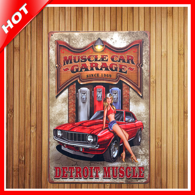 new muscle car band chic home bar vintage metal signs home decor vintage tin signs pub