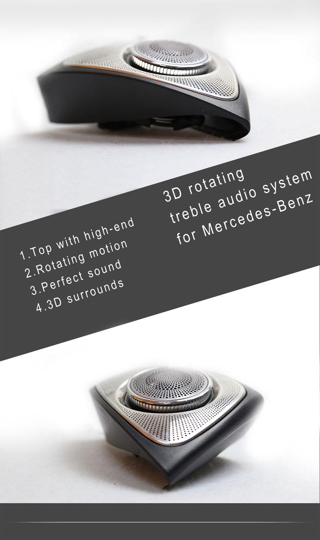 Car Audio system 3D rotating treble Speaker 3D rotating high loud speaker  for Mercedes-Benz E CLASS W213 (2016-2017)