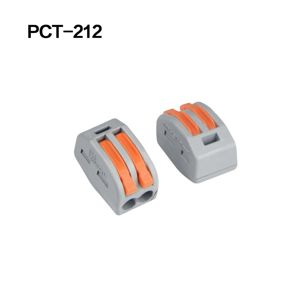 100/20/10 шт. 222-412 222-413 222-415 клеммы соединители 0,08-2,5 мм мини-разъем провода Проводник винторезный станок сплиттер - Цвет: 222-412