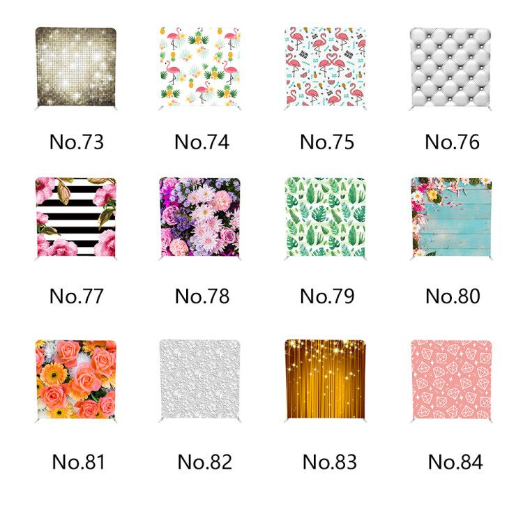 customized one stand and one double sided print pillow cover style background for photo booth
