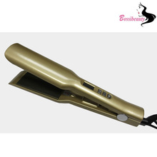 On sale Electric Fast Golden Titanium Hair Straightener with Auto Digital Hair Straightener Flat iron Home Use