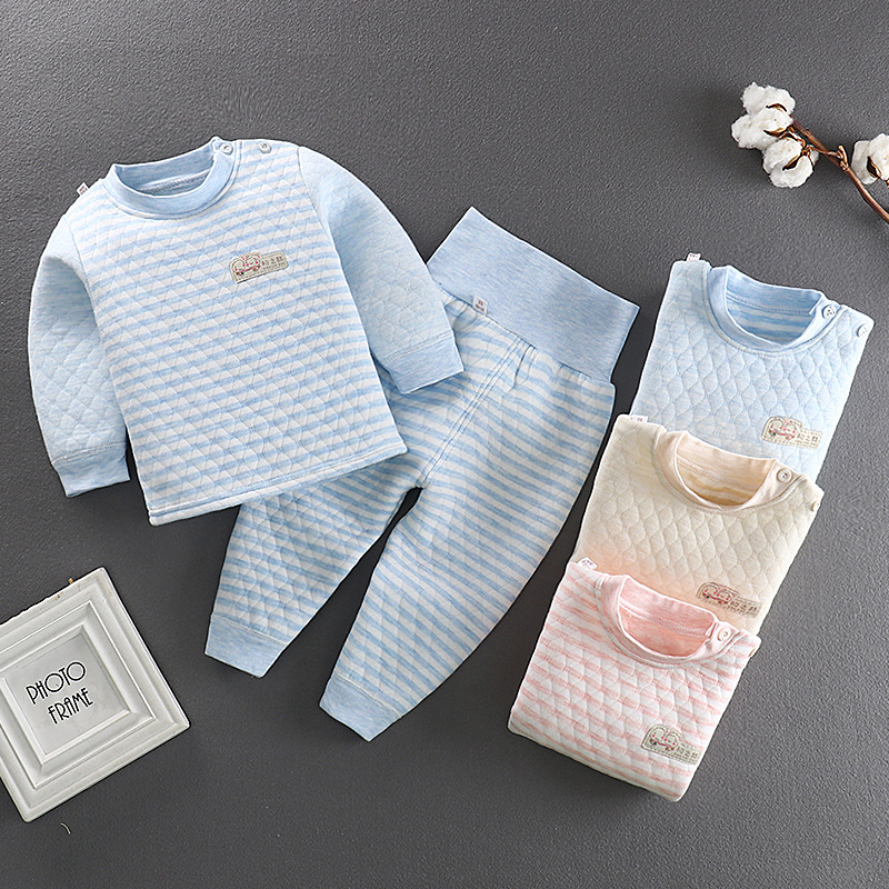 Susi&Rita Autumn Winter Warm Pyjamas Kids Long Sleeve Baby Girls Sleepwear Boys Cotton Pajamas Set 2019 Children Clothes