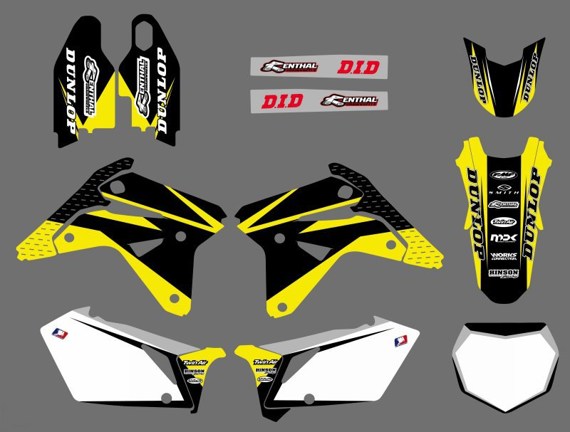 0596 NEW TEAM DECALS GRAPHICS BACKGROUNDS STICKERS FOR Suzuki RMZ450 RM-Z450 2007 RMZ RM ...