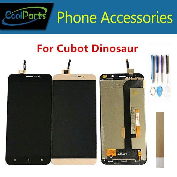 Qualité originale pour l'écran d'affichage à cristaux liquides de dinosaure de Cubot avec l'assemblage de numériseur d'écran tactile or blanc noir avec la bande d'outils