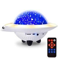 Kids Night Light, Led Star Night Light Lamp Projector, Baby Night Light With Bluetooth Speaker 7 Lighting Modes, Rotating Ufo