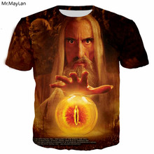 Gandalf Eye of Sauron 3D Print Vintage Mans Hipster T-Shirt Men Women The Lord the Rings tee tshirt t shirts Fashion Tops