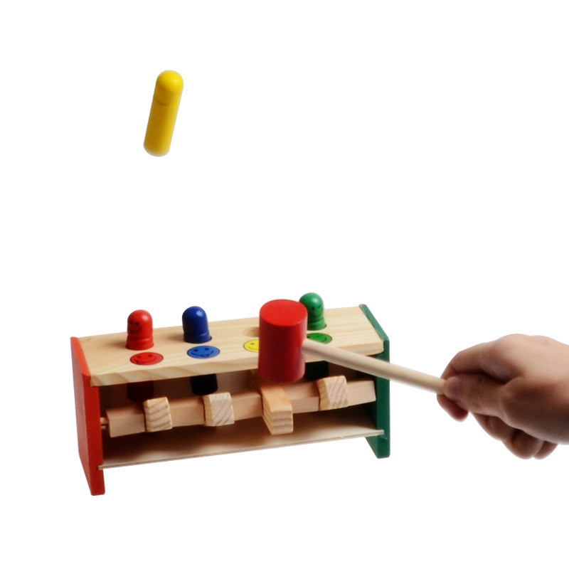 Colorful-Mini-Cute-Wooden-Hammer-Pounding-Bench-Blow-Air-Interesting-Toy-For-Baby-Kids-Gifts-2