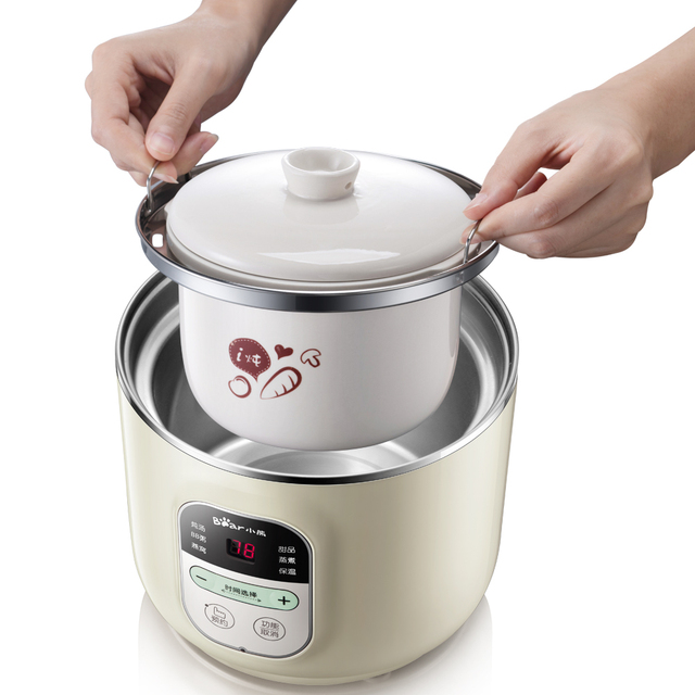 220V Household Electric Stewing Pot Machine Multifunctional Electric Baby Porridge Cooking Machine Multi Cooker EU/AU/UK 3