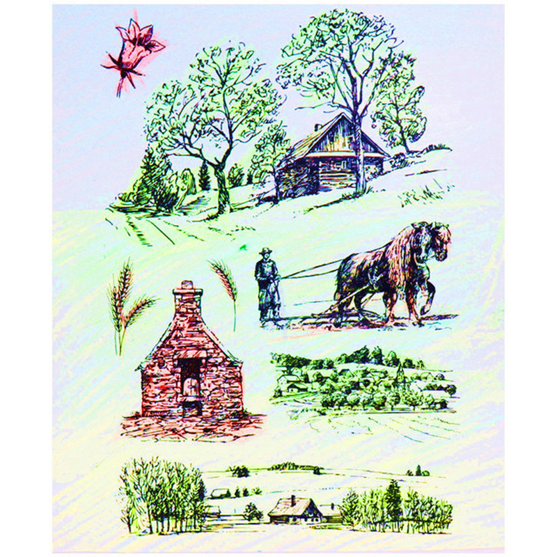 Farm house Clear Stamp Animal Tree Cattle Clear Rubber stamps Silicone transparent stamp for Scrapbooking DIY Decor tools